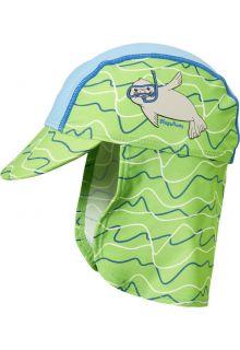 Playshoes---UV-zonnepet-voor-jongens-en-meisjes---blauw-groen-zeehond