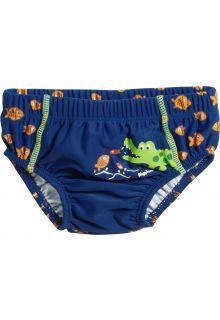 Playshoes---UV-zwemluier-voor-jongens---Wasbaar---Krokodil---Blauw