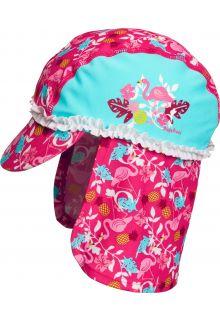 Playshoes---UV-zonnepet-voor-meisjes---Flamingo---Aquablauw-/-roze