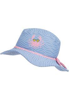 Playshoes---UV-zonnehoed-voor-meisjes---Krab---Lichtblauw/roze