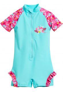 Playshoes---UV-zwempakje-voor-meisjes---Flamingo---Aquablauw-/-roze