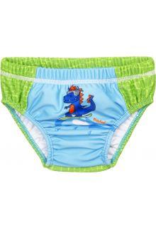 Playshoes---UV-zwemluier-voor-baby's---Wasbaar---Dino---Groen/Lichtblauw