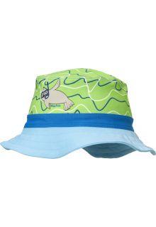 Playshoes---UV-zonnehoed-voor-jongens-en-meisjes---blauw-groen-zeehond