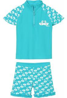 Playshoes---UV-zwemset-voor-meisjes---lichtblauw-zwanen