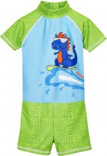 Playshoes---UV-zwempak-voor-jongens---Dino---Lichtblauw/Groen