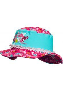 Playshoes---UV-zonnehoed-voor-meisjes---Flamingo---Aqua-/-roze