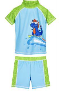 Playshoes---UV-zwemset-voor-jongens---Dino---Lichtblauw/Groen