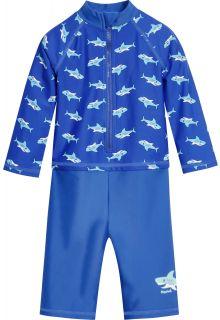 Playshoes---UV-zwempak-voor-jongens---longsleeve---Haaien---Blauw