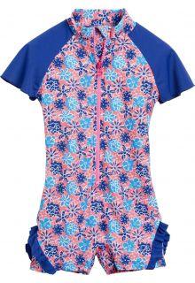 Playshoes---UV-eendelig-zwempakje---Bloemen-blauw-ruches
