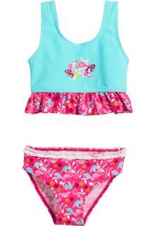 Playshoes---UV-bikini-voor-meisjes---Flamingo---Aquablauw-/-roze