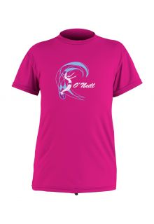 O'Neill---UV-shirt-voor-meisjes-met-korte-mouwen---berry-