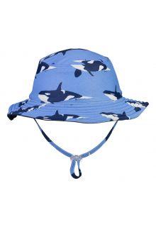 Snapper-Rock---Omkeerbare-UV-Bucket-Hoed-voor-jongens---Orka-Ocean---Blauw/Donkerblauw