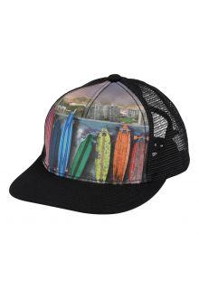 Molo---Baseball-cap-voor-kinderen---Rainbow-Boards---Zwart