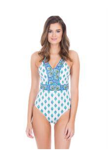 Cabana-Life---UV-badpak-voor-dames---Groen/Wit