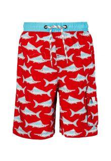 Snapper-Rock---UV-jongens-zwembroek---Rood/blauwe-zwaardvis