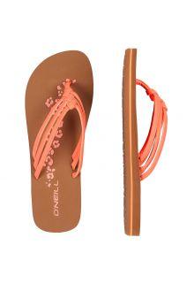 O'Neill---Slippers-voor-dames---roze/oranje