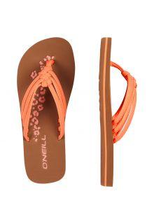 O'Neill---Slippers-voor-meisjes---neon-roze/oranje