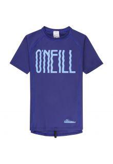 O'Neill---UV-shirt-met-korte-mouwen-voor-meisjes---blauw