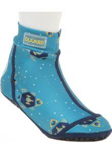 Duukies---Jongens-UV-strandsokken---Astronaut-Petrol---Lichtblauw