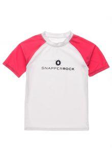 Snapper-Rock---UV-Rash-Top-voor-jongens---Korte-mouw---Wit/Rood