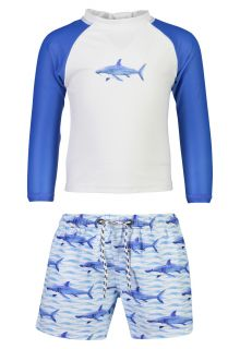 Snapper-Rock---UV-Zwemset-voor-baby's---School-of-Sharks---Wit/Blauw