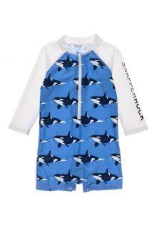 Snapper-Rock---UV-zwempak-voor-baby-jongens---Longsleeve---Orka-Ocean---Blauw