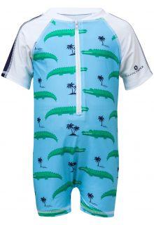 Snapper-Rock---UV-pakje-met-korte-mouwen---Croc-Island---Blauw/Wit