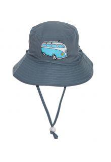 Rigon---UV-bucket-hat-voor-kinderen---Blue-combi-bus