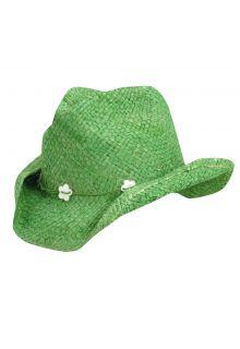 Dorfman-Pacific---Cowgirl-hoed-met-schelpen-voor-kinderen---Groen