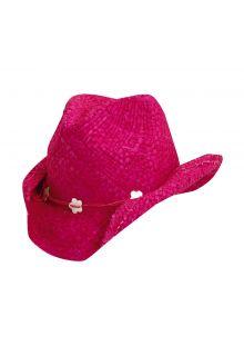 Dorfman-Pacific---Cowgirl-hoed-met-schelpen-voor-kinderen---Fuchsia