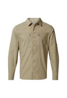 Craghoppers---UV-Overhemd-voor-heren---Longsleeve---Kiwi-Boulder---Zandbeige