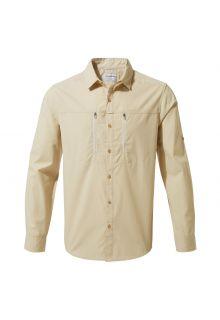 Craghoppers---UV-Overhemd-voor-heren---Longsleeve---Kiwi-Boulder---Beige