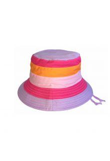 Emthunzini-Hats---UV-Bucket-hoed-voor-meisjes---Charlie---Roze/Oranje-streep