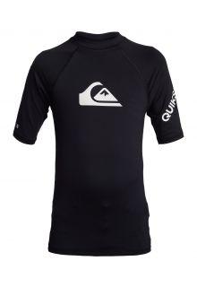 Quicksilver---UV-zwemshirt-voor-tieners---All-Time---Zwart