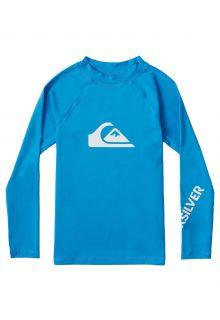 Quicksilver---UV-zwemshirt-voor-jongens---Longsleeve---All-Time---Helderblauw