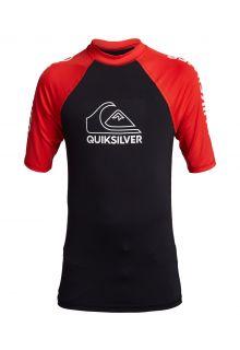 Quicksilver---UV-zwemshirt-voor-tieners---On-Tour---Vuurrood