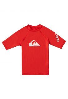 Quicksilver---UV-zwemshirt-voor-jongens---All-time---Vuurrood