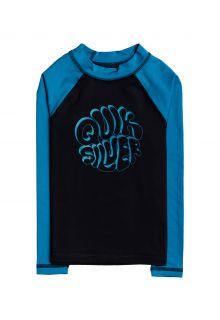 Quicksilver---UV-zwemshirt-voor-jongens---Longsleeve---Bubble-Trouble---Zwart