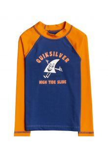 Quicksilver---UV-zwemshirt-voor-jongens---Longsleeve---Bubble-Trouble---Oranje