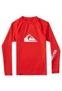 Quicksilver---UV-zwemshirt-voor-jongens---Longsleeve---All-Time---Vuurrood