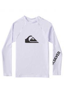 Quicksilver---UV-zwemshirt-voor-jongens---Longsleeve---All-Time---Wit