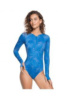 Roxy---UV-Badpak-voor-dames---Longsleeve---Pop-Surf---Blauw-bloemmotief