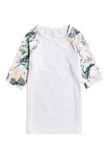 Roxy---UV-Zwemshirt-voor-tienermeisjes---Lovely-Senorita---Helder-Wit/Bloemen