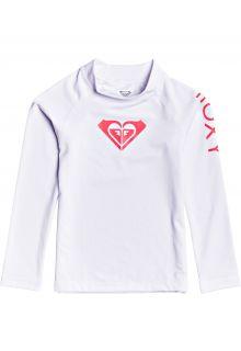 Roxy---UV-Zwemshirt-voor-jonge-meisjes---Longsleeve---Whole-Hearted---Helder-Wit