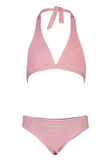 Snapper-Rock---Halter-Bikini-voor-meisjes---Classic-Stripe---Rood/Wit