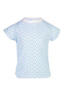 Snapper-Rock---UV-Zwemshirt-voor-meisjes---Oceania-Sustainable---Blauw/Wit
