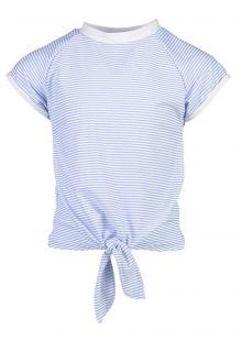 Snapper-Rock---UV-Zwemshirt-met-knoop-voor-meisjes---Blauw/Wit