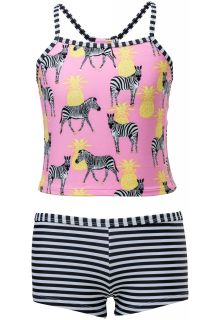 Snapper-Rock---Tankini---Zebra-Crossing---Roze/Zwart/Wit