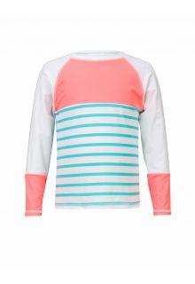 Snapper-Rock---UV-shirt-Coral-Fish---Koraalrood-/-Turquoise
