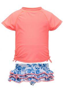 Snapper-Rock---UV-Zwemset-met-ruche---Cottage-Floral---Roze/Blauw